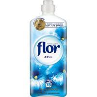 Suavizante concentrado azul FLOR, botella 70 dosis