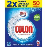 Detergente en polvo COLON,  maleta 50 dosis
