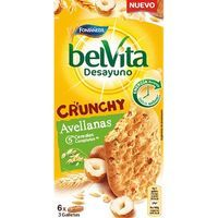 Galleta Belvita Crunchy de avellana FONTANEDA, caja 300 g