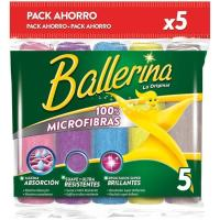 Bayeta microfibras Collection multiusos BALLERINA, pack 5 uds.