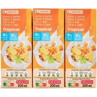 Lactozumo tropical EROSKI, pack 6x200 ml