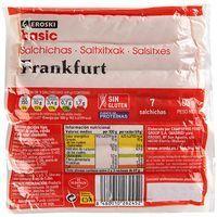 Salchichas Frankfurt EROSKI basic, sobre 170 g