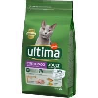 Alimento de pollo gato adulto esterilizado ULTIMA, saco 1,5 kg