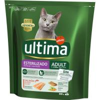 Alimento de salmón gato esterilizado ULTIMA, paquete 800 g