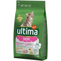 Alimento de pollo-arroz gato junior 2-12 m. ULTIMA, saco 1,5 kg