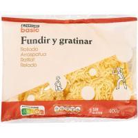 Prep. lácteo rallado fundir-gratinar EROSKI basic, bolsa 400 g