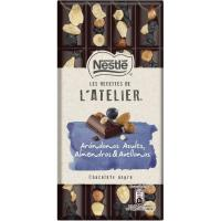 Chocolate negro con arándanos-frutos secos NESTLÉ, tableta 195 g
