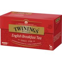 Té English Breakfast TWININGS, caja 25 sobres