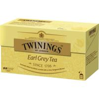Té Earl Grey TWININGS, caja 25 sobres