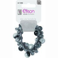 Elástico perla black mix ELISON, pack 1 unid.