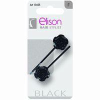 Horquilla clasic Black ELISON, pack 2 unid.