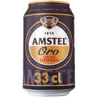 Cerveza AMSTEL Oro, lata 33 cl