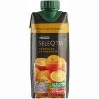 Zumo de naranja de Valencia Eroski SELEQTIA, brik 33 cl