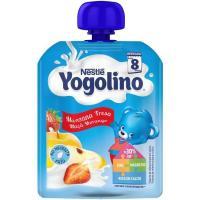 Bolsita de manzana-fresa NESTLÉ Yogolino, doypack 90 g
