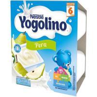 Yogolino de pera NESTLÉ, pack 4x100 g