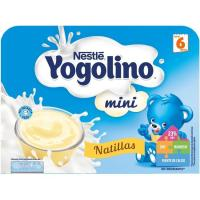Iogolino mini de natillas NESTLÉ, pack 6x60 g