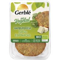 Hamburguesa de tofu-espinacas GERBLE BIO, pack 2x80 g