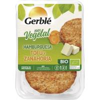 Hamburguesa de tofu-zanahoria GERBLÉ BIO, bandeja 160 g