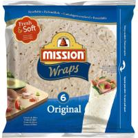 Tortitas wraps original MISSION, 6 unid., paquete 370 g