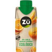Zumo de naranja ecológica ZÜ PREMIUM, brik 33 cl