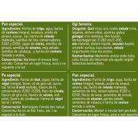 Pan de molde de centeno-semillas EROSKI, paquete 675 g