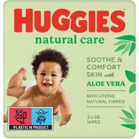 Toallitas Natural Care HUGGIES, pack 2+1 unid.