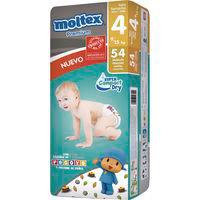 Pañal premium 9-15 kg Talla 4 Grande MOLTEX, paquete 54 unid.