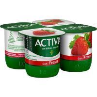 Activia con fresa DANONE, pack 4x120 g