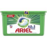 Detergente en cápsulas 3en1 ARIEL, caja 38 dosis