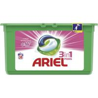 Detergente en cápsulas 3en1 ARIEL Sensaciones, caja 38 dosis