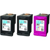 Cartucho tinta original, 2 negro-tricolor, E5Y87EE, 301 HP, 1 ud