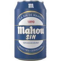 Cerveza sin alcohol MAHOU, lata 33 cl