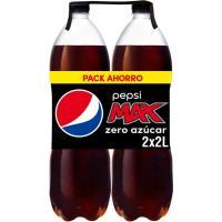 Refresco de cola PEPSI Max Zero Azúcar, pack 2x2 litros
