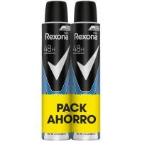 Desodorante para hombre Duo Cobalt REXONA, pack 2x200 ml
