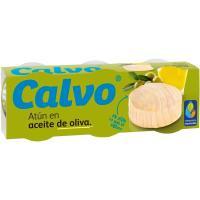 Atún en aceite de oliva CALVO, pack 3x80 g
