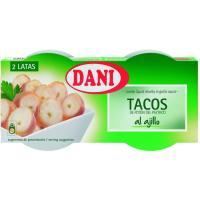 Tacos del potón del pacífico al ajillo DANI, pack 2x78 g