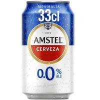 Cerveza sin alcohol AMSTEL, lata 33 cl