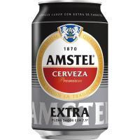 Cerveza extra AMSTEL, lata 33 cl