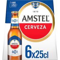 Cerveza 0,0 AMSTEL, pack 6x25 cl