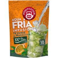 Infusión fría de té verde-maracuya POMPADOUR, bolsa 18 unid.