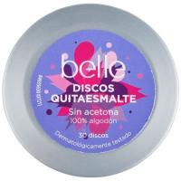 Discos quitaesmalte sin acetona belle, lata 30 unid.
