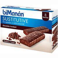 Barritas de chocolate negro Fondant BIMANAN, caja 8 unid.