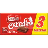 Chocolate NESTLÉ, pack 3x125 g