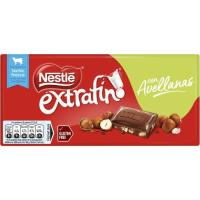 Chocolate con avellanas NESTLÉ, tableta 123 g