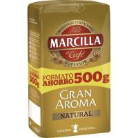 Café molido natural MARCILLA, paquete 500 g