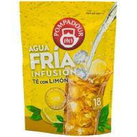 Té con limón POMPADOUR Agua Fría, bolsa 18 monodosis