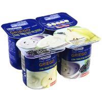 Yogur griego con pera y con mora