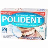 Tableta limpiadora blanqueante protesis POLIDENT, caja 30 unid.