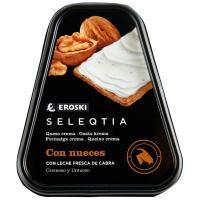 Queso crema de cabra con nueces Eroski SELEQTIA, tarrina 150 g