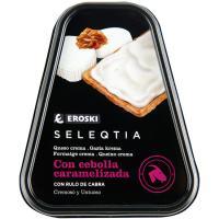Queso crema con rulo de cabra Eroski SELEQTIA, tarrina 150 g